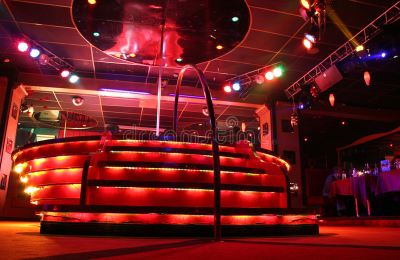 подиум ночи клуба стоковое фото