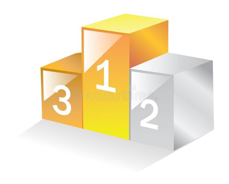 подиум 3d иллюстрация вектора