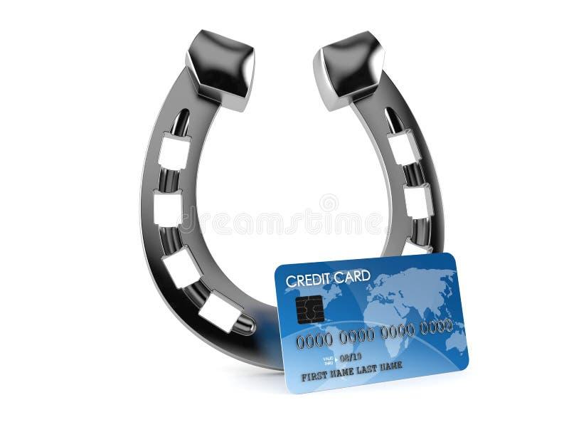 Подкова с кредитной карточкой иллюстрация штока