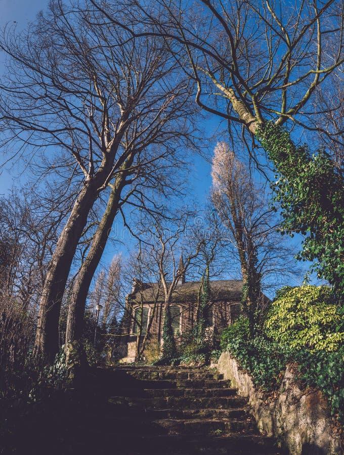 Подлинная каменная часовня в Генте, Бельгии стоковое изображение