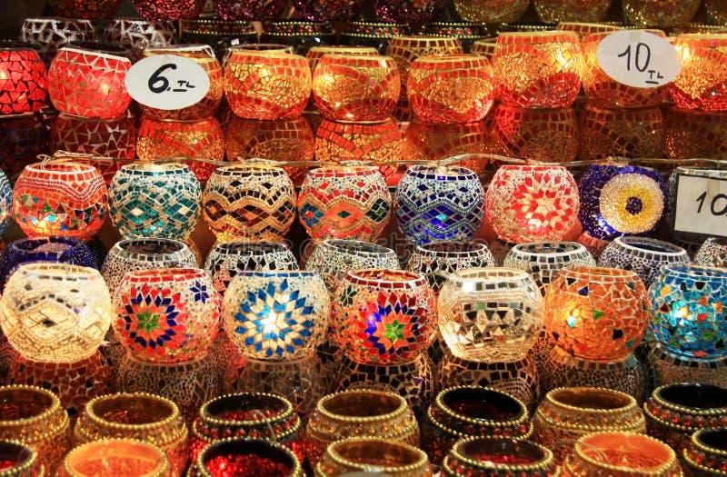 подлинные светильники турецкие стоковая фотография rf
