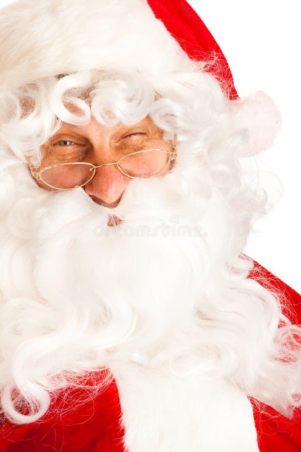 подмигивать claus santa стоковое фото rf