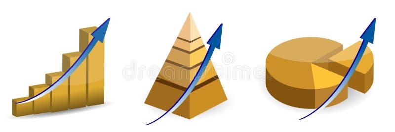поднимать пирамидки расстегая диаграмм в виде вертикальных полос бесплатная иллюстрация