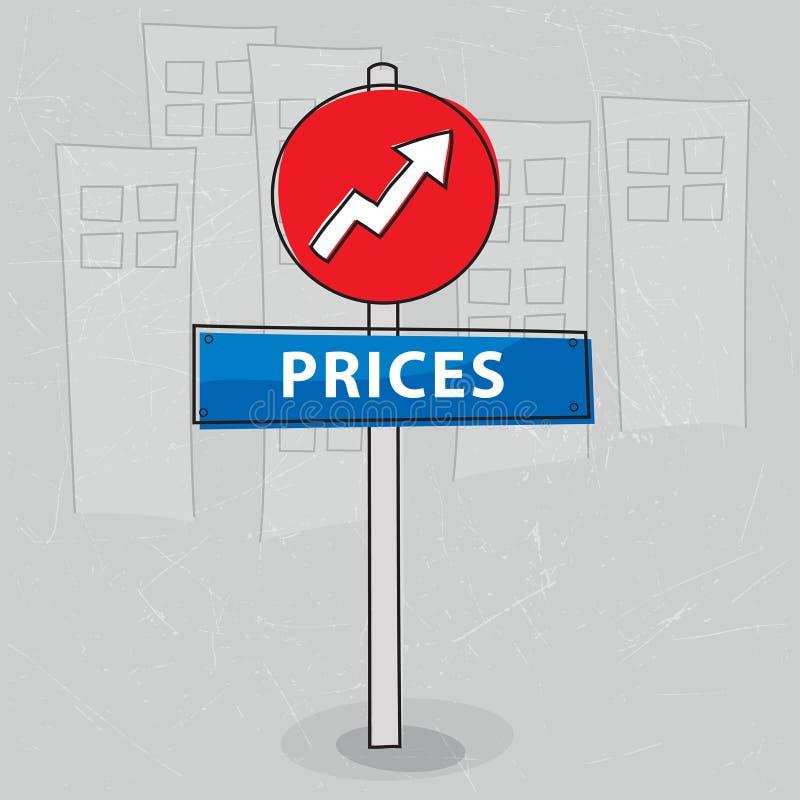 поднимать цен иллюстрация вектора