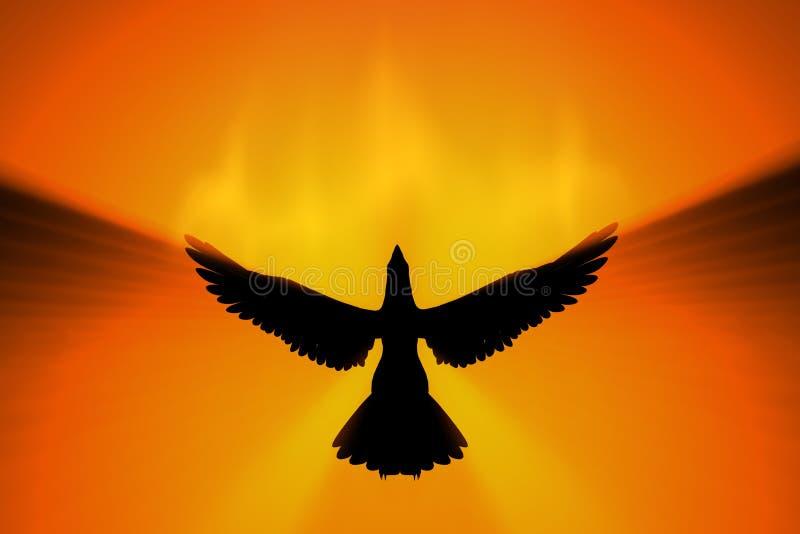 поднимать phoenix иллюстрация штока