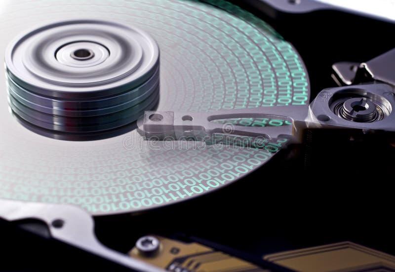 поднимающее вверх близкого дисковода трудное стоковая фотография
