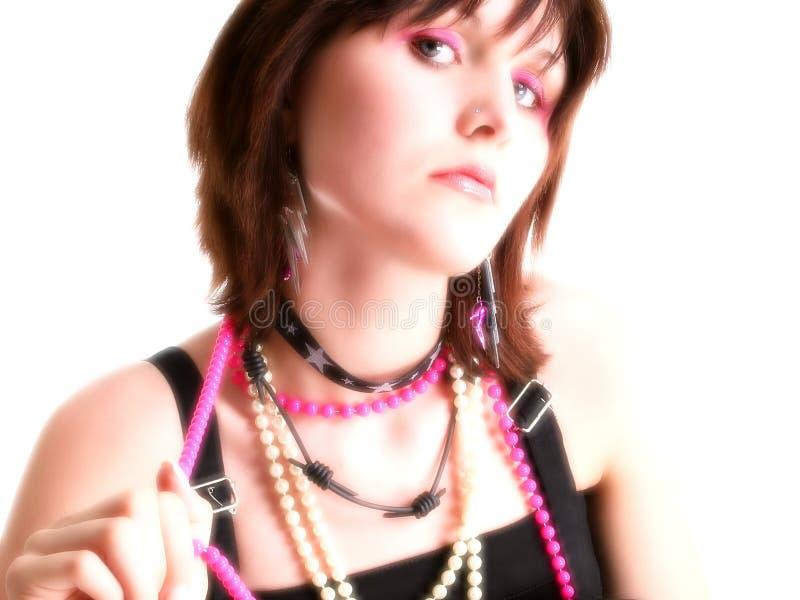 поднимающее вверх близкой девушки предназначенное для подростков стоковые изображения rf