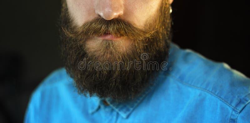 Поднимающее вверх бороды и усика близкое стоковое фото rf