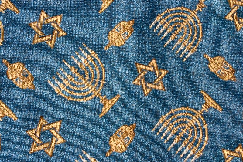 поднимающее вверх hanukkah близкой ткани еврейское стоковые изображения