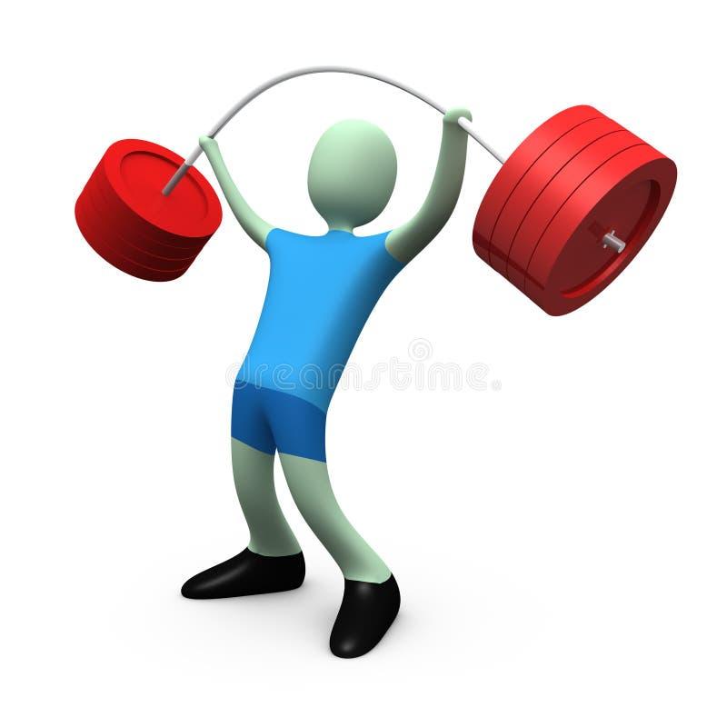 поднимаясь вес спортов иллюстрация вектора
