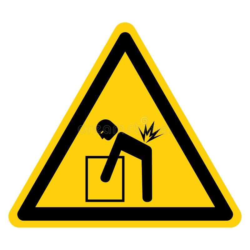 Поднимаясь изолят знака символа опасности на белой предпосылке, иллюстрации вектора бесплатная иллюстрация