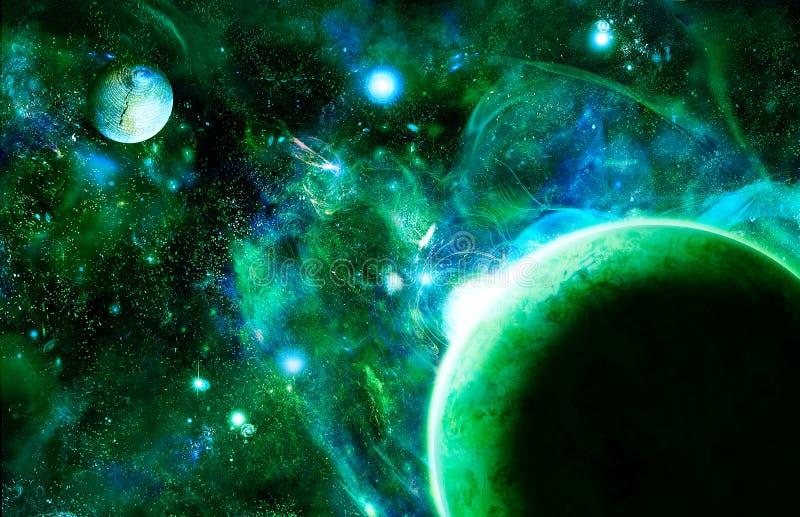 поднимая космос иллюстрация вектора
