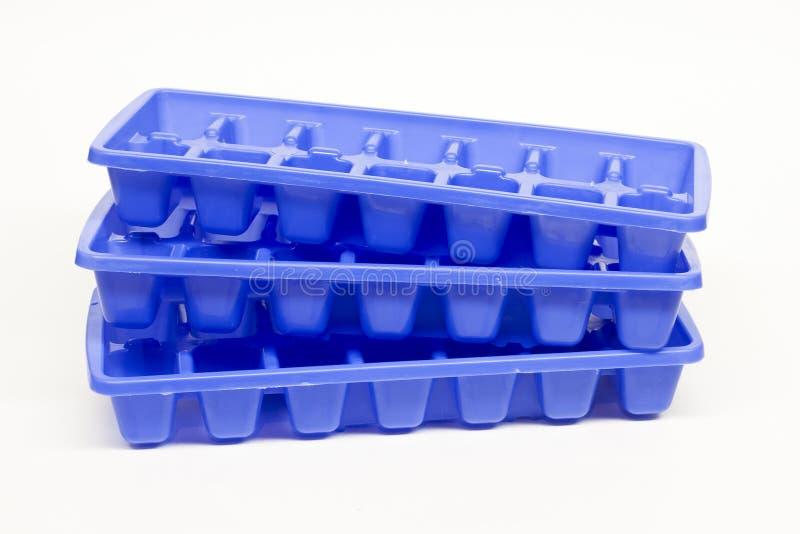 подносы льда кубика стоковое фото