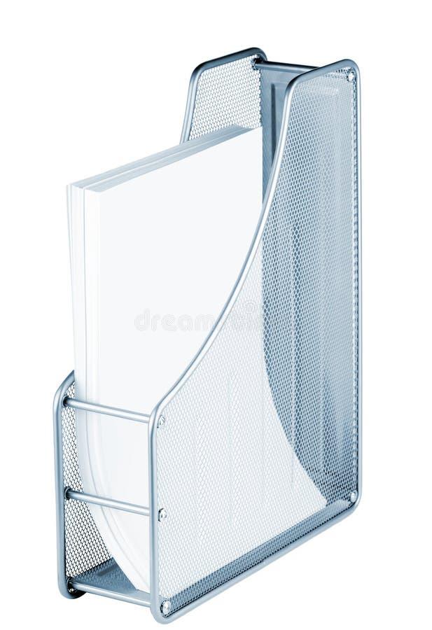 поднос бумаг металла стоковые фотографии rf