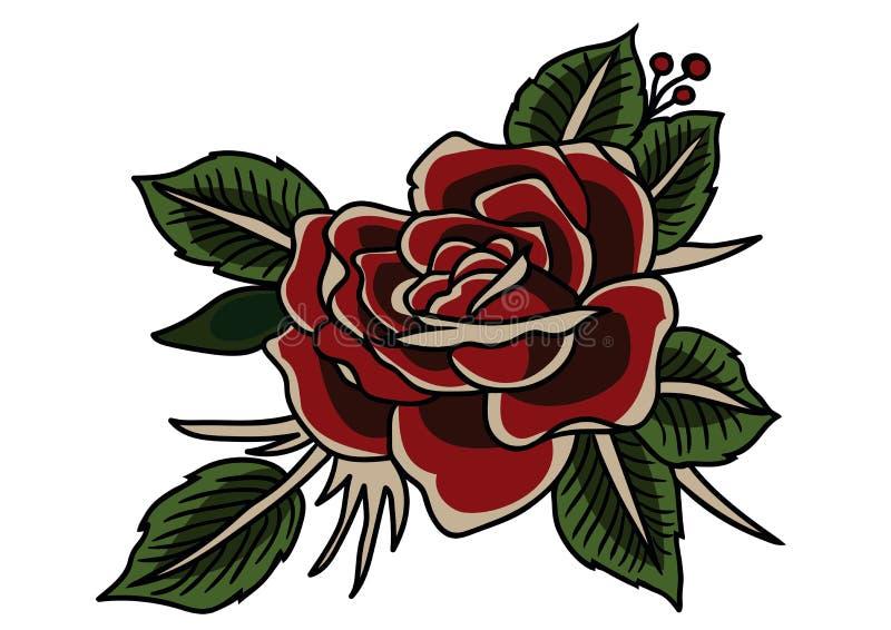 Подняла классика татуировки, винтажная татуировка стиля бесплатная иллюстрация