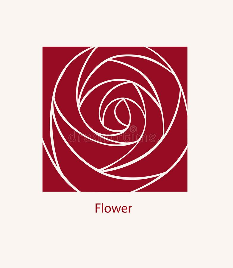 Поднял дизайн конспекта ярлыка Концепция логотипа косметик Квадрат i иллюстрация вектора