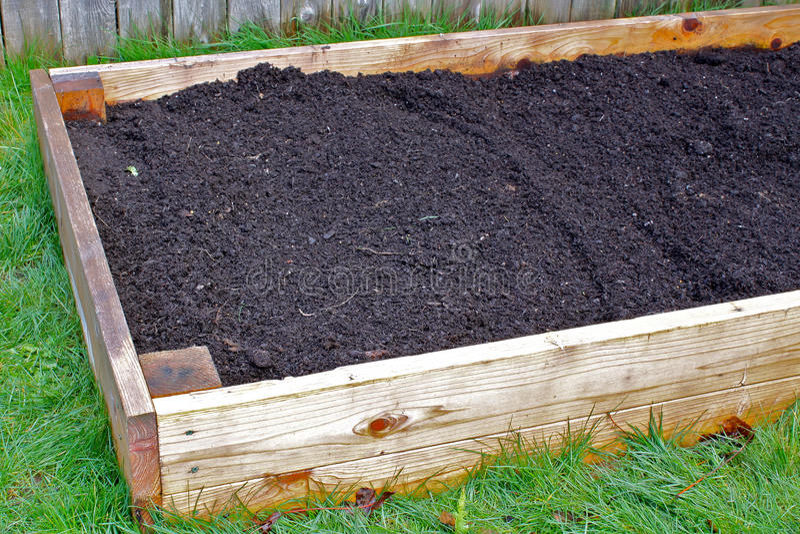 поднятый сад кровати стоковая фотография