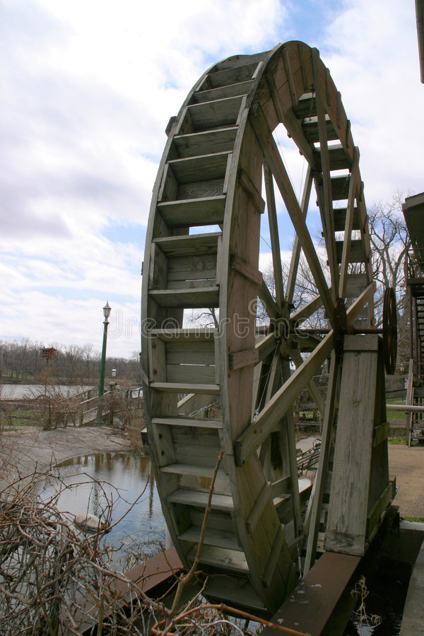 подоприте waterwheel стоковое фото rf
