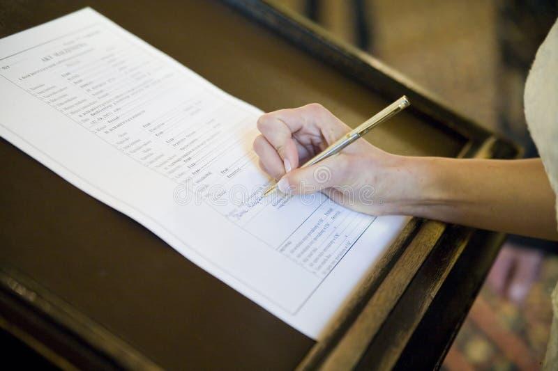 подписание pledge стоковые изображения rf