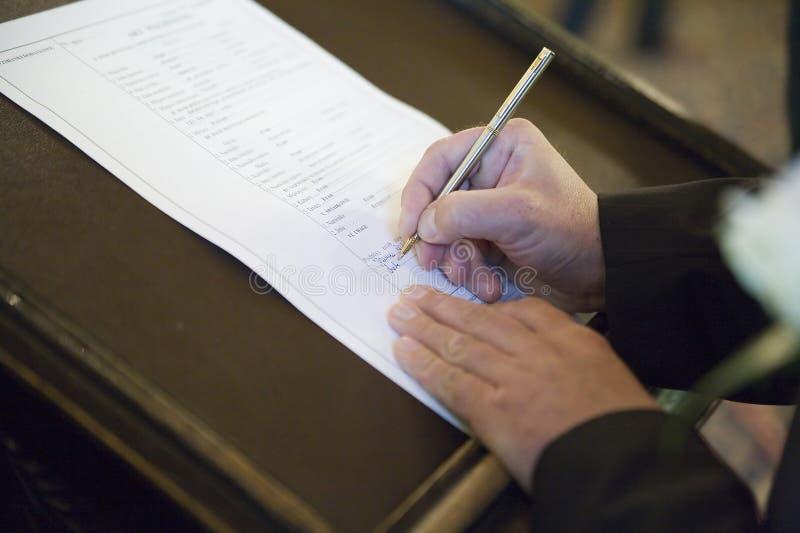 подписание pledge стоковое изображение