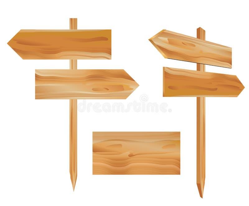 подписывает деревянное бесплатная иллюстрация