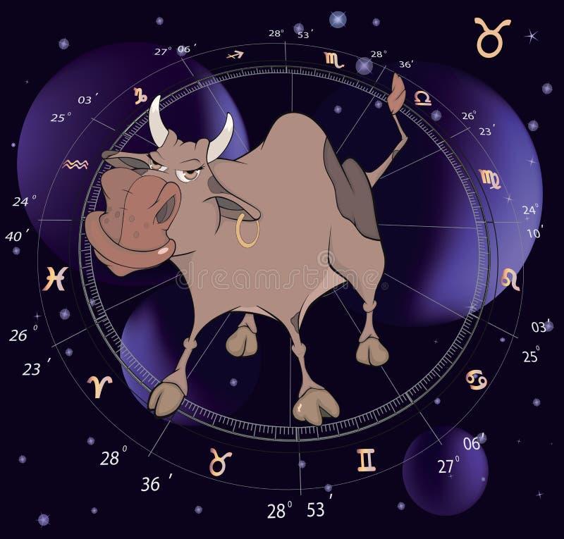 подписывает зодиак taurus иллюстрация штока