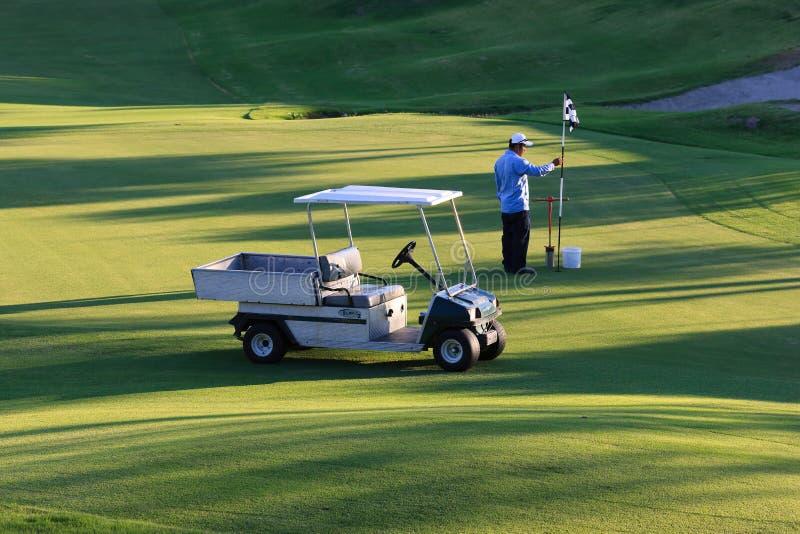 подпись игрока гольфа gary курса стоковые фото