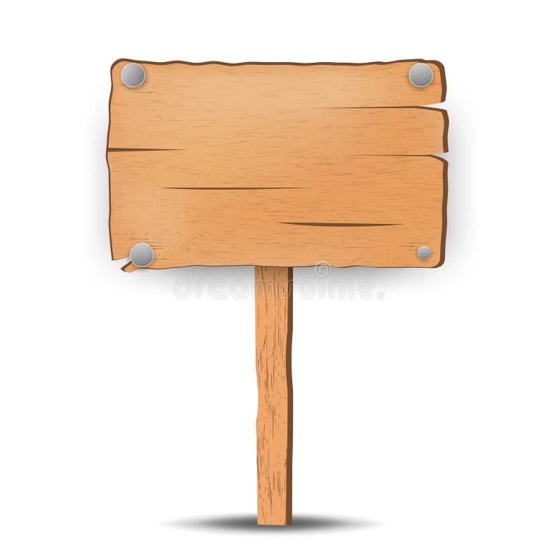 подпишите деревянное Доска объявлений взгляд подкраской дорожного знака угла голубой широко вектор стоковое изображение