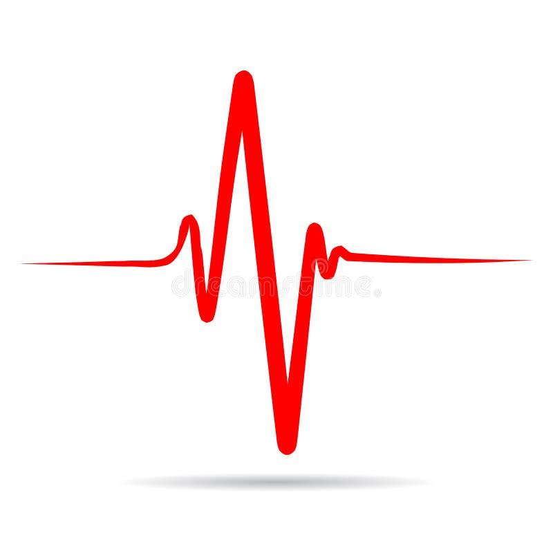 Подпишите ИМП ульс сердца, одну линию, cardiogram - запас иллюстрация штока