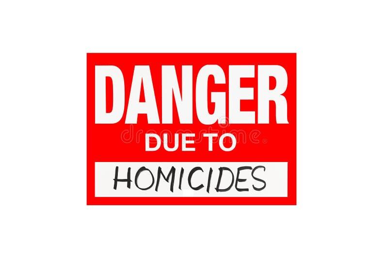 Подпишите опасность должную к убийствам изолированным на белизне стоковое фото rf