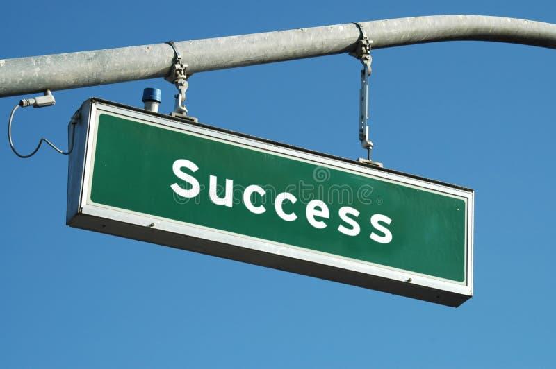 подпишите успех стоковое изображение