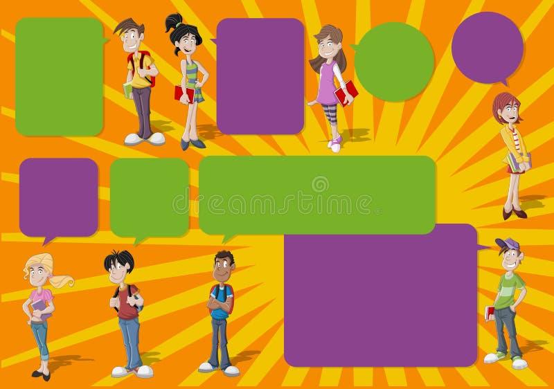 Подростки. иллюстрация штока