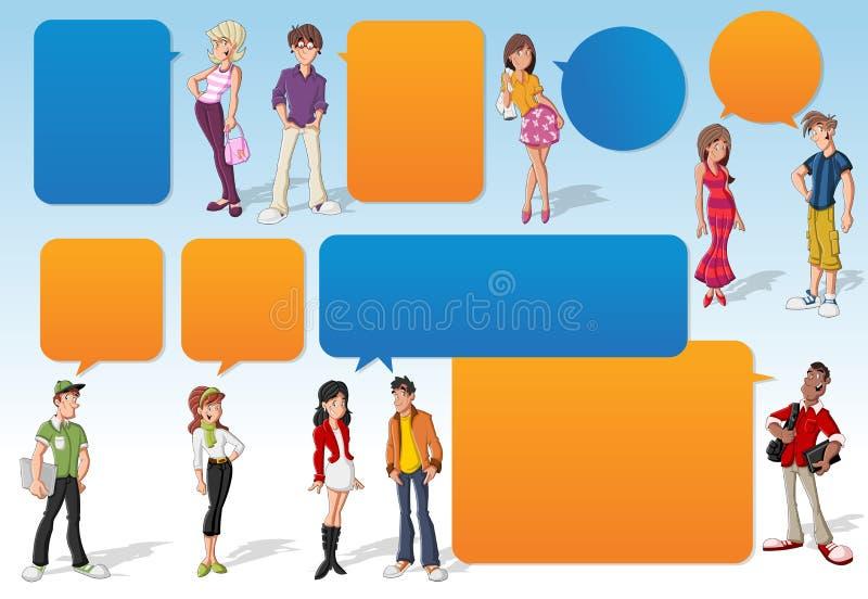 Подростки. бесплатная иллюстрация