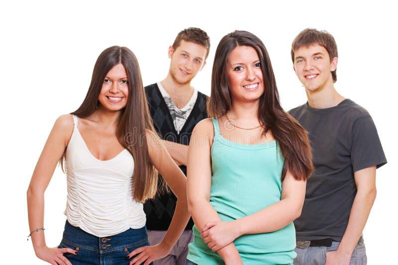 подростки smiley группы стоковые изображения