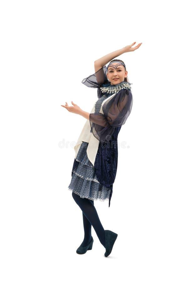 Подросткового возраста девушка в славных костюме и шляпе стоковые фотографии rf