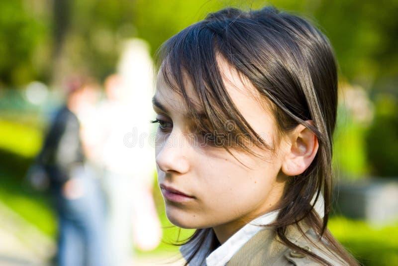подростковое девушки унылое стоковое изображение