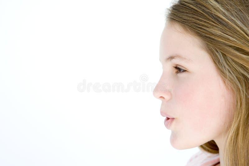 подростковое рта девушки открытое стоящее стоковая фотография rf