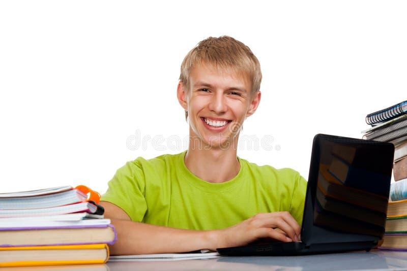 Подростковый студент человека стоковые фотографии rf