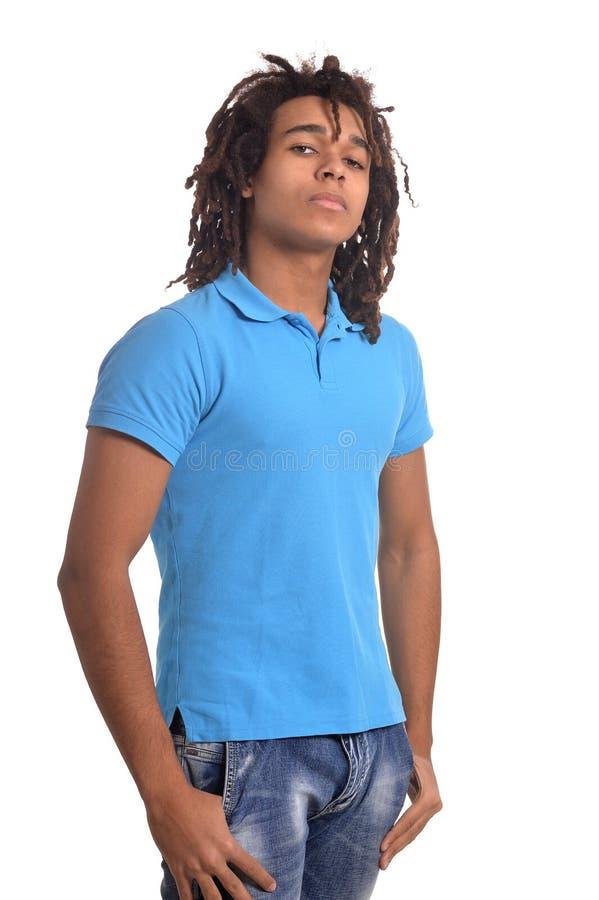 Подросток в голубой рубашке стоковое фото rf
