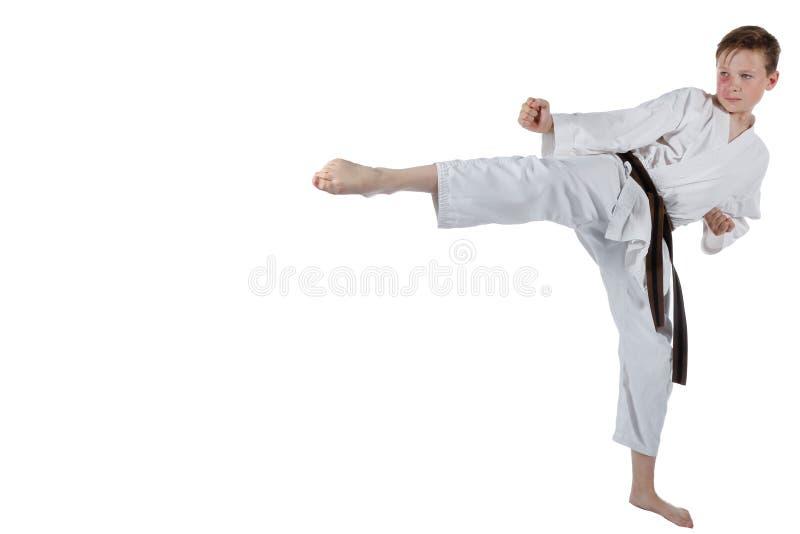 Подросток делая боевые искусства стоковое фото rf