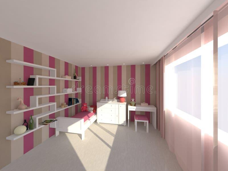 подросток комнаты иллюстрация вектора