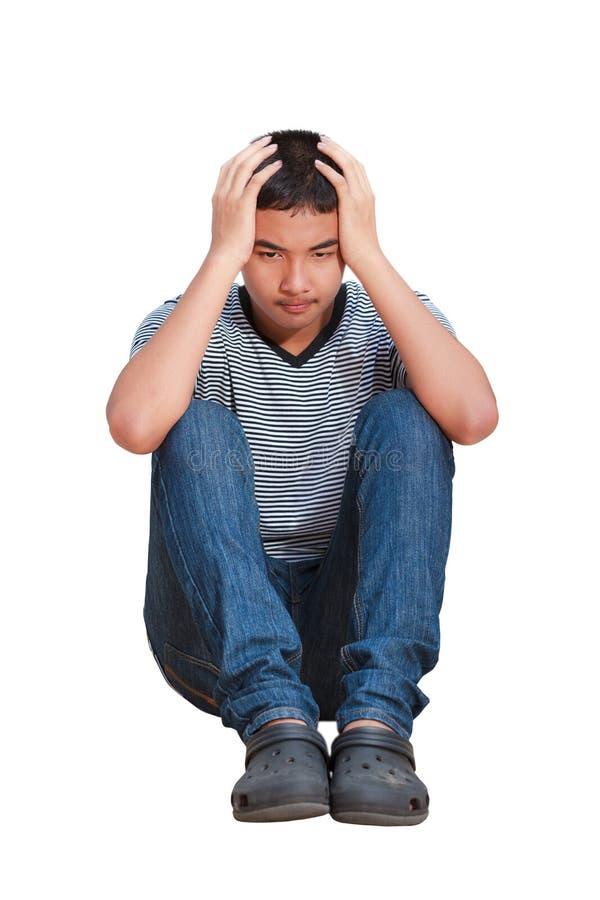подросток мальчика серьезный стоковые изображения