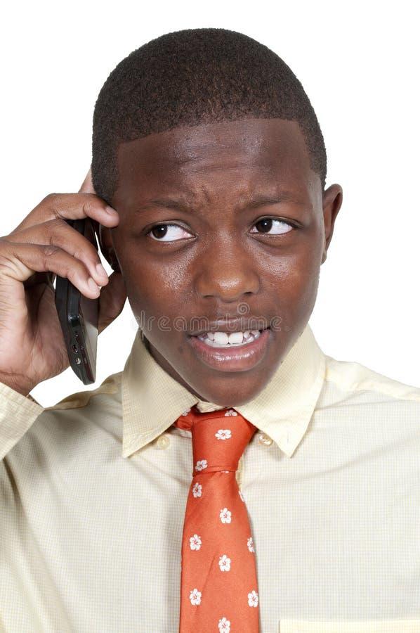 Подросток на телефоне стоковые фотографии rf
