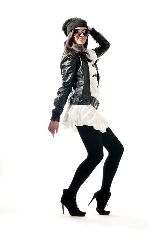 подросток обмундирования девушки танцы стоковое фото