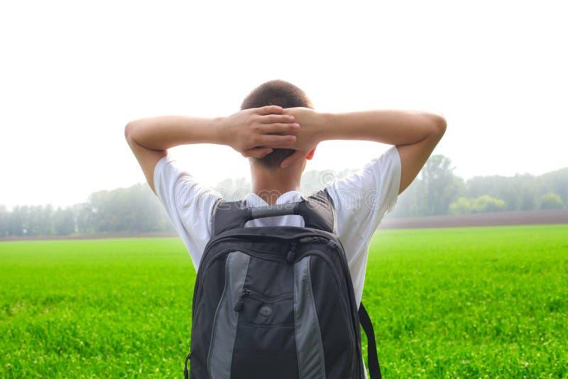 подросток поля стоковая фотография