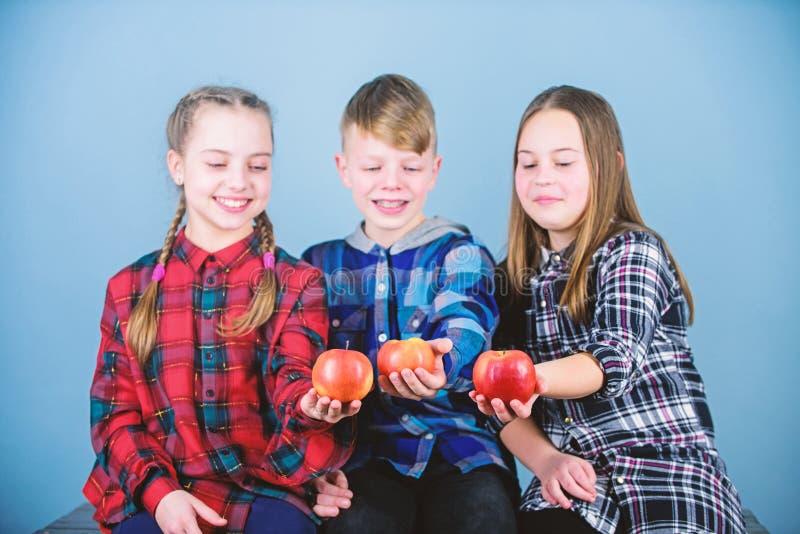 Подросток со здоровой закуской Здоровое питание dieting и витамина Съешьте плод и быть здоровый Повышать здоровое питание стоковое фото