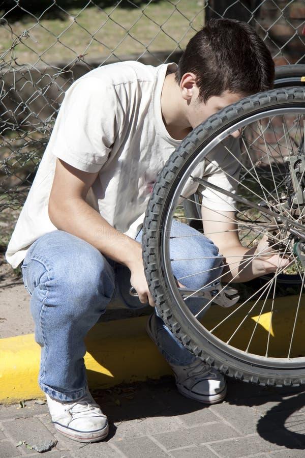 подросток bike стоковое фото