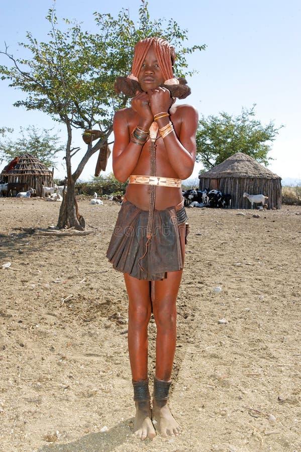 подросток himba стоковое изображение
