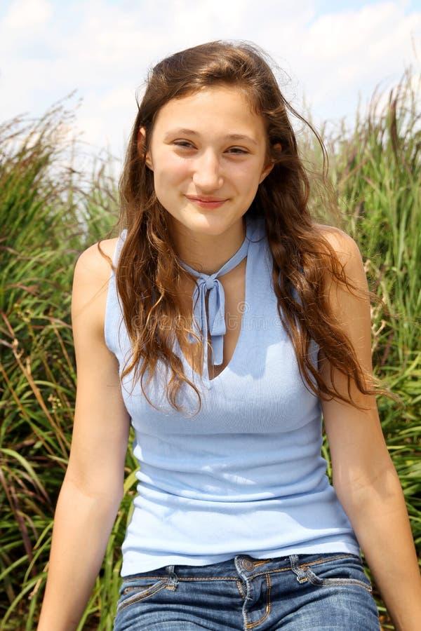Подросток Smilng стоковая фотография rf