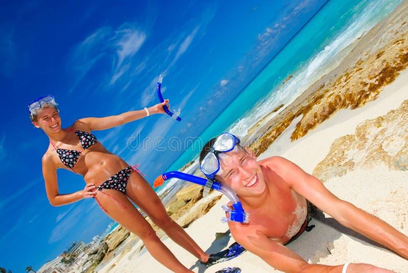 подросток snorkel стоковое фото